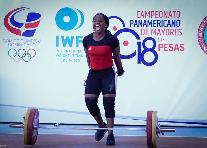 maya laylor snatches 100kg in pan am games
