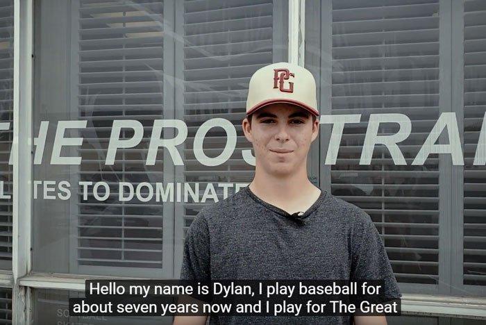 Dylan Oborne Baseball Training Success