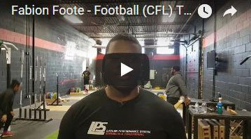 Fabion Foote Football Training Success Story