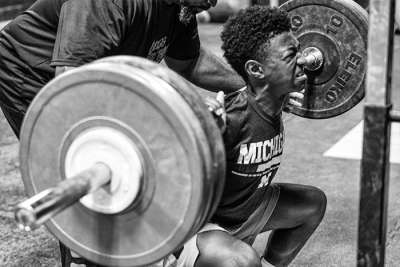 Jabari Smith Baseball Back Squat