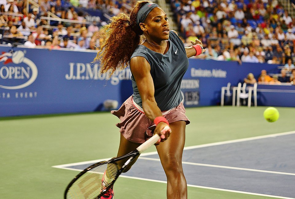 Power development of Serena Williams in Tennis Players
